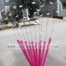 Attractive Acrylic Crystal Pink Color Bead Curtain