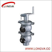 Vanne d'inversion manuelle en acier inoxydable sanitaire