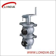 Válvula de inversão manual de aço inoxidável sanitária