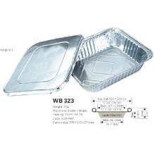 Contenedor Alimenticio de Lácteos de Aluminio con Tapa