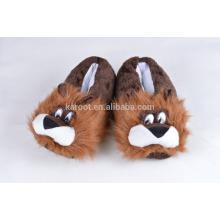cuit lion fluffy warm winter indoor slipper custom audit plush slipper