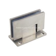 Charnière en acier inoxydable pour porte en verre