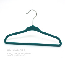 China Plastic Hanger Chlidren Kids Save Space Velvet Hanger
