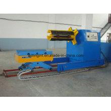8 toneladas de Uncoiler hidráulico de aço com carro de bobina