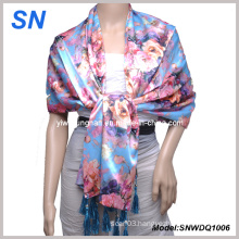 Fashion Lady′s Sequare Satin Scarf