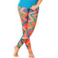 Pantalon Capri d'entraînement, pantalons de Capri Touchdown de fierté athlétique imprimé par les jeunes (CRP-013)