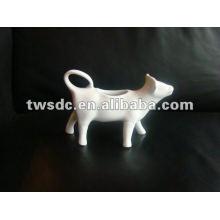 blanc porcelaine durable vache creamer, crème separator--(MJ-005)