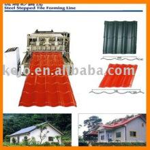 Farbe Stahl Fliesen Roll Umformmaschine