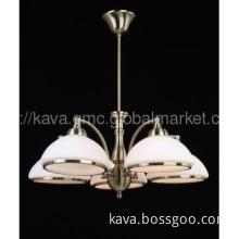 9444/5P Modern brass glass pendant chandeliers