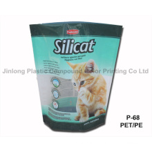 Pet/PE Stand up Cat Litter Pouch ISO9001: 2008