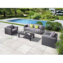 Modern Outdoor Wicker Rattan Sectional Set