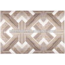 Parquet requintado piso de madeira projetado HDF núcleo