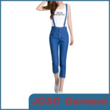Blue Slim Fit Women Suspenders Jeans (JC1047)