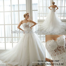 sexy modern see through lace with bonning bodice wedding dress bridal