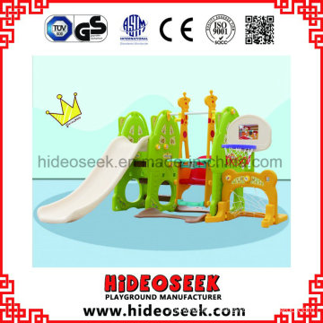 Chidlren Health Center Indoor Play Slide with Basket Ball Hoop