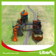 2015 Le plus grand design Grand Pirateship Outdoor Playground pour le parc d'attractions, Pirateship Jungle Gym pour enfants
