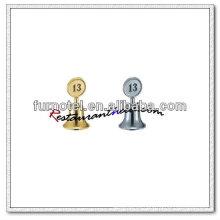T236 Soporte de número de mesa de forma de campana de acero inoxidable