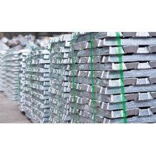 Venda quente, lingote de alumínio puro 99.7% Preço de fábrica