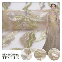 Top quality Designer soft embroidered net material for dresses