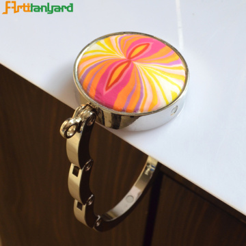 Heart Zinc Alloy Purse Bag Hanger