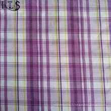 100% tissu tissé de fil de popeline de coton teint pour des chemises / robe Rlsc50-23