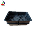 red color square shaped ABS vacuum forming plastic tray