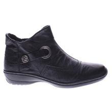 Schwarze Hq Leder Tailored Ankle Boots für Frauen