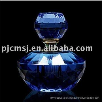 # NPB-04, frasco de perfume de vidro azul,