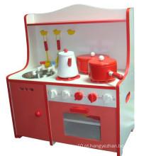 Funny Kids cozinha de madeira fingem brincar Brinquedos DIY Gourmet Cozinha Brinquedos