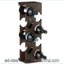Carrinho de exposição de vinho de madeira de estilo especial / carrinho de exposição de vinho de madeira