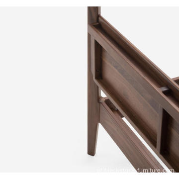 """Seclusion"" Walnut Wooden Canopy Beds"