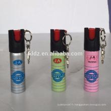 20ml mini spray au poivre coloré avec porte-clés