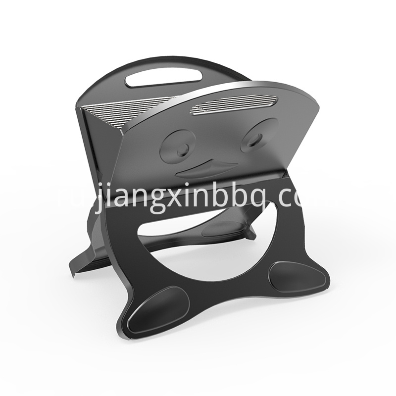 X Shape Black Foldable Charcoal Grill