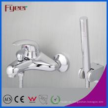 Fyeer grifo de ducha de baño de pared de latón macizo con desviador