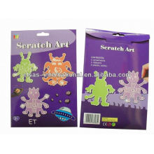 Paper craft for kids,ET design scratching art for kids,scratch art