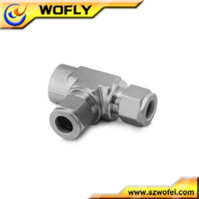 Oil&gas Female Run Tee stainless steel tubes and fittings