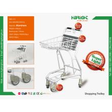 Алюминиевые торговые тележки для магазинов и супермаркетов