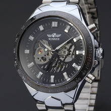 watch bezel outsert design mechanical watch with high gloss stainless steel band