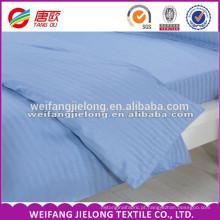 Preço barato algodão branco cetim tecido de algodão tecido de rendas para cama conjunto de tecido de cetim da listra