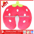 Fruit style neck pillow stuffed strawberry shaped neck pillow plush strawberry neck pillow