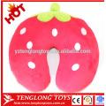 Fruit style neck pillow stuffed strawberry shaped neck pillow plush strawberry neck pillow