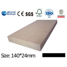 WPC prancha de madeira de plástico composto anti-séptico prancha vinil prancha WPC impermeável bordo Lhma121