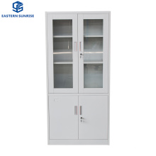 Full Height Metal Filing Storage Cabinet with Glass Door (upper) , Steel Door (bottom)