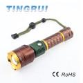 Ajustable mejor Convex alta potencia de caza linterna recargable linterna LED