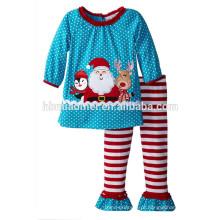 2017 atacado Natal novo pijama terno mangas compridas pijama de Papai Noel