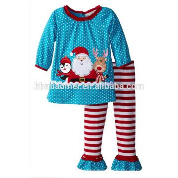 2017 großhandel Weihnachten neue pyjamas anzug langen ärmeln Weihnachtsmann pyjamas