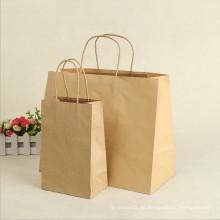Bolsa de papel de Kraft de la bolsa de papel de las compras del regalo de la promoción