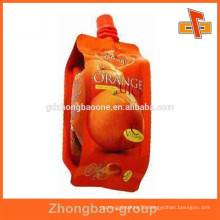 New design stand up drink pouches with spout for juice packaging