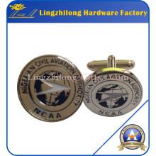 Gemelos de metal plateado con revestimiento epoxi