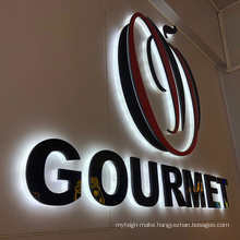 Advertising Customized Channel  Acrylic Sign Office LED Backlit Logo Letter Sign